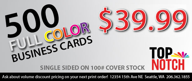 Special 500 Full Color Business Cards